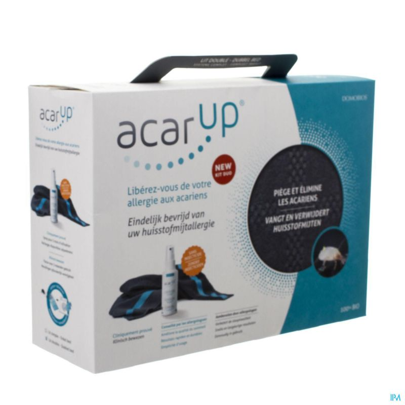 Acar up acarien kit duo 2 textiles + vapo 100ml