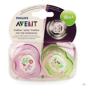 Philips Avent Sucette Fash. 18m+ Animal Bleu/rose