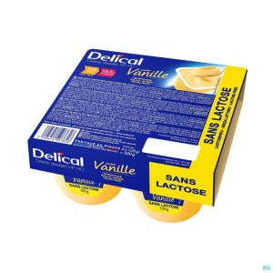 Delical Creme Dessert Hp-hc S/lact.vanille 4x125g
