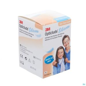 Opticlude Silicone Pansement Orthoptique Maxi 57mm X 80mm