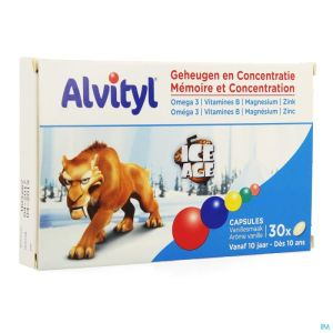 Alvityl Memoire Concentration Adg Caps 30
