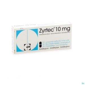 Zyrtec 10mg Comp Pell 20 X 10mg