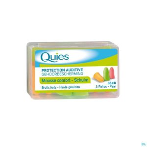 Quies Protection Auditive Mousse Fluo 3 Paires