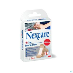 N1714as Nexcare Blood Stop Strips Assortiment 3 Tailles
