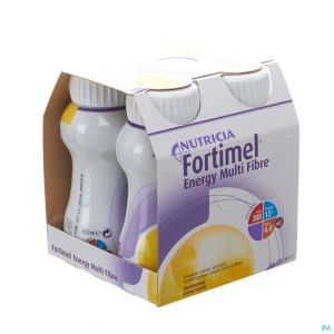 Fortimel Energy Multi Fibre Vanille 4x200ml