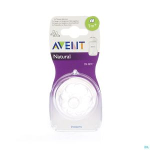 Avent natural tetine slow 2trous  2