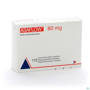 Asaflow 80mg Comp Gastro Resist Bli 112x 80mg