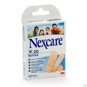 N0420as Nexcare Textile Strips Assortiment 3 Tailles