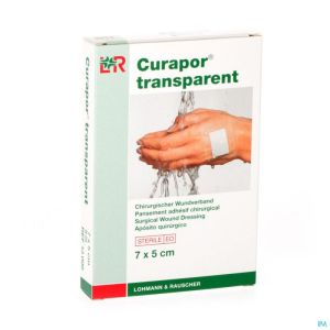 Curapor Transparent Steril 7cmx 5cm 5 13099