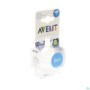 Avent tetine medium 3trous 2
