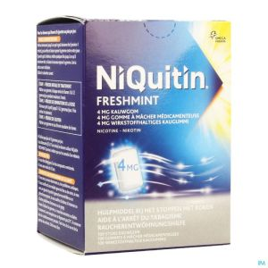 Niquitin Mint 4,0mg Gomme A Macher 100