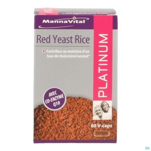 Mannavital Red Yeast Rice Platinium V-caps 60