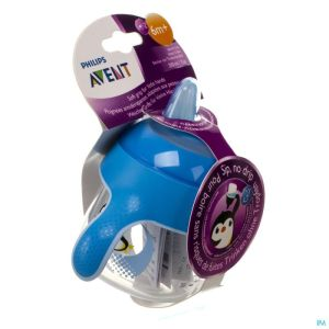 Avent gobelet anti fuite pinguin blue 200ml