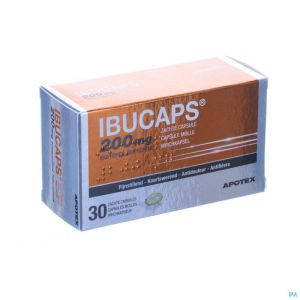 Ibucaps 200mg Apotex Caps Doux 30