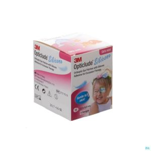 Opticlude Silicone Pansement Orthoptique Mini Girls 50mm X 60mm