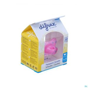 Difrax Sucette Natural 0-6 M Girl