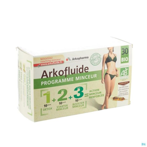 Arkofluide Programme Minceur Amp 30x15ml
